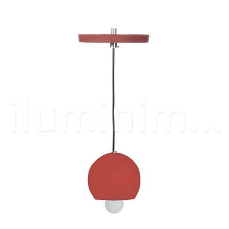 Pendente Alumínio Vermelho Redondo