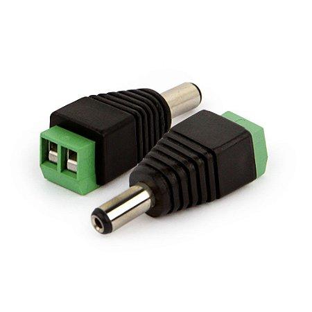 Plug Conector P4 Macho Para Fita LED Cftv Câmera Borne Kre - Extra ou Reposição