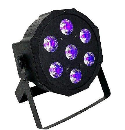 Refletor Holofote LED Par64 RGB Digital 7 Leds para Festa