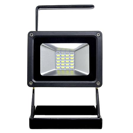Refletor Holofote MicroLED 30w - 12v - Recarregável Branco Frio