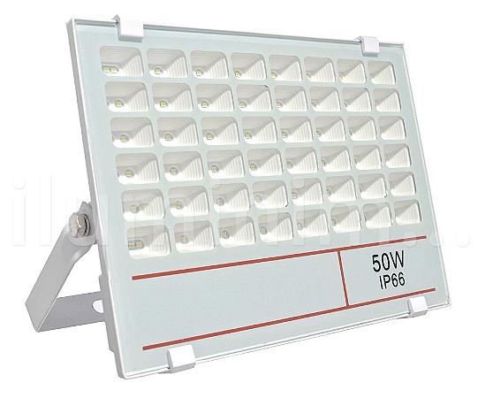 Refletor Holofote MicroLED 50W Multifocal Branco Frio Fosco