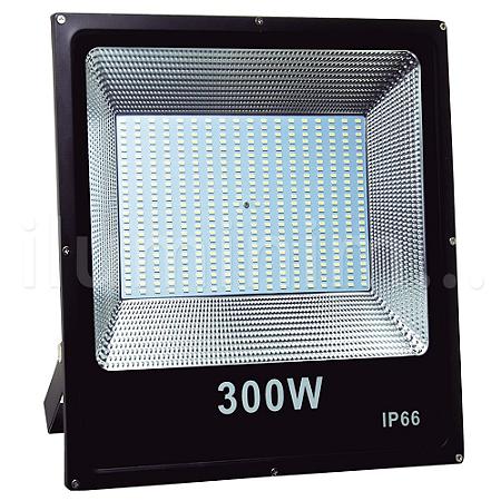Refletor Holofote MicroLED Slim 300W Branco Frio