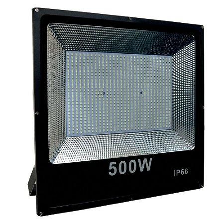 Refletor Holofote MicroLED Slim 500W Branco Frio