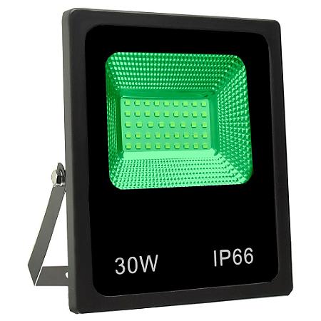 Refletor Holofote MicroLED SMD 30W Verde