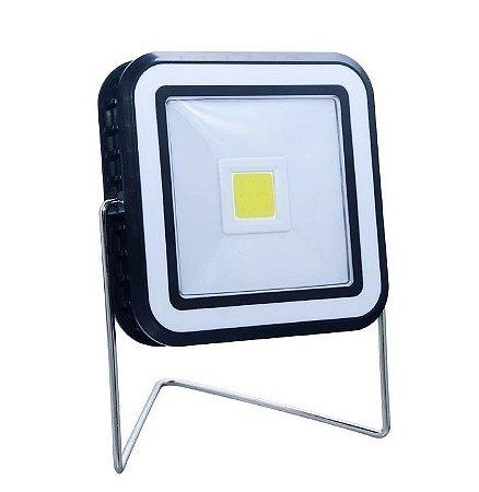 Refletor LED Solar 20w Quadrado Portátil Recarregável para Camping