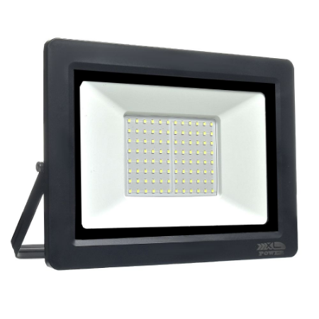 Refletor MicroLED Ultra Thin 200W Branco Frio Black Type