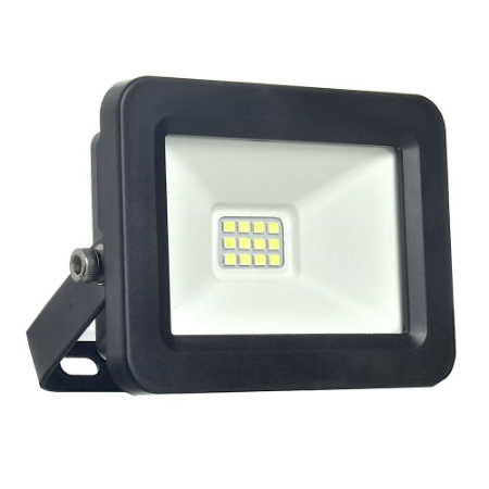 Refletor MicroLED Ultra Thin 30W Branco Frio Black Type
