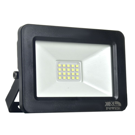 Refletor MicroLED Ultra Thin 50W Branco Frio Black Type