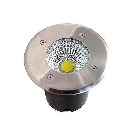 Spot Balizador LED COB 3W Branco Frio para Piso