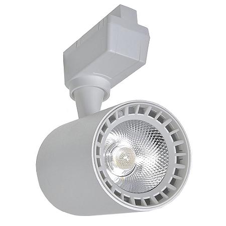 Spot LED 10W Branco Quente para Trilho Eletrificado Branco