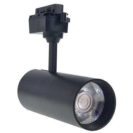 Spot LED 20W Branco Quente para Trilho Eletrificado Preto