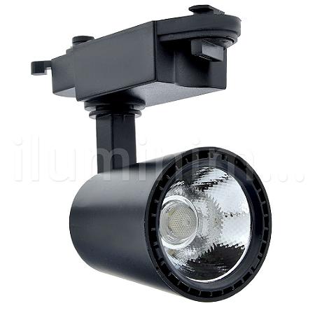 Spot LED 30W Branco Quente para Trilho Eletrificado Preto