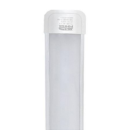 Tubular LED Sobrepor Completa 40W 1,20m Branco Quente   Inmetro