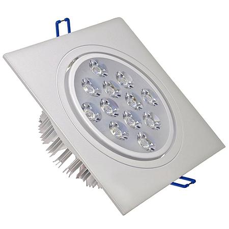 Spot 12W Dicróica LED Direcionável Base Branca
