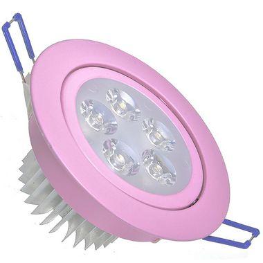 Spot Dicróica 5w LED Direcionável Corpo Rosa