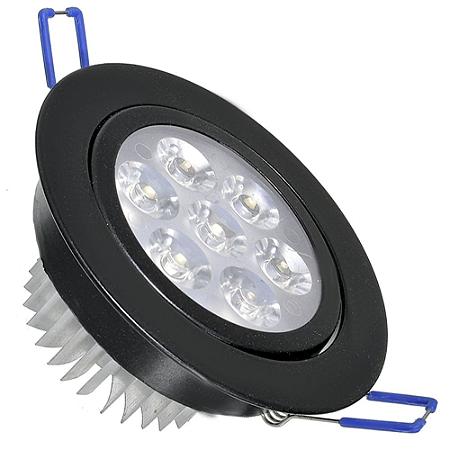 Spot Dicróica 7w LED Direcionável Corpo Preto