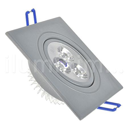 Spot LED 3W Dicróica Direcionável Corpo Cinza