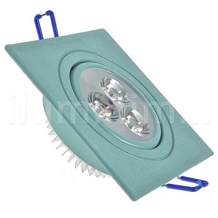 Spot LED 3W Dicróica Direcionável Corpo Verde