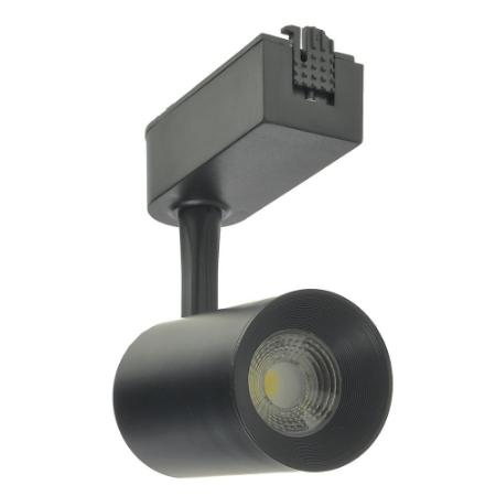 Spot LED 7W Branco Neutro para Trilho Eletrificado Preto