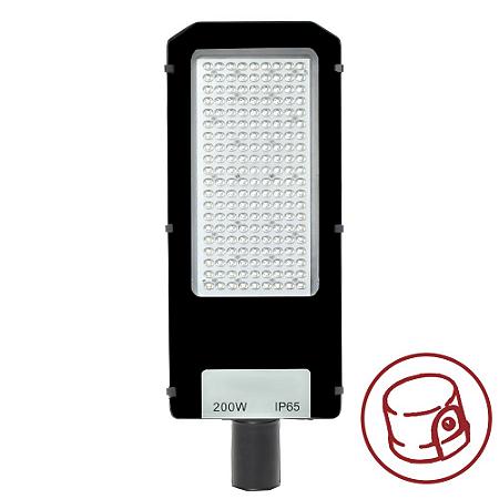 Luminária Pública Ultra LED SMD 200w Branco Frio Fotoeletrico