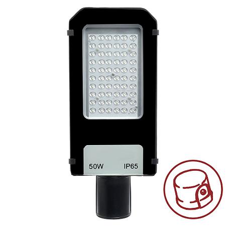 Luminária Pública Ultra LED SMD 50w Branco Frio Fotoeletrico