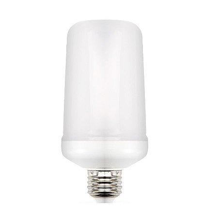 Lâmpada LED 9W Efeito Chama Fogo E27   Inmetro