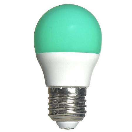 Lâmpada LED Bolinha 3w Verde   Inmetro
