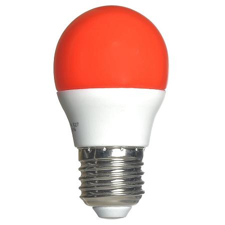 Lâmpada LED Bolinha 3w Vermelho | Inmetro