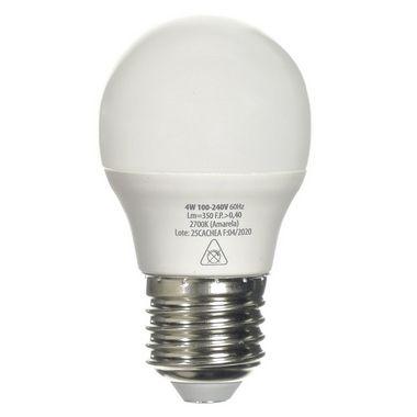 Lâmpada LED Bolinha E27 4w Branco Frio   Inmetro