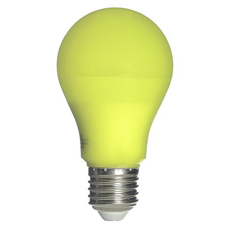 Lâmpada LED Bulbo Repelente 9W E27 Bivolt Amarela   Inmetro