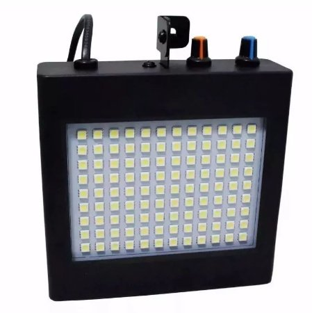 Refletor Holofote LED Strobo 25W 108 Leds RGB para Festa