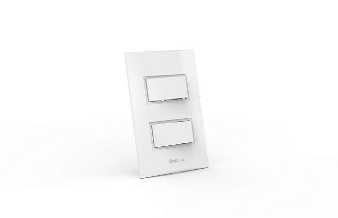 Conjunto Interruptor 2 Teclas Simples Modular