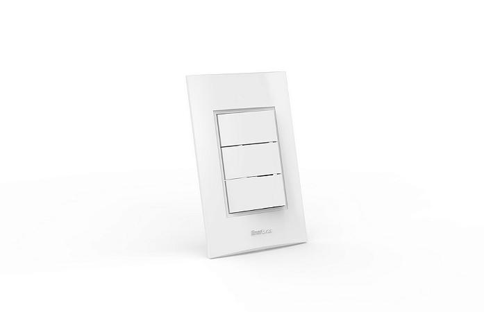 Conjunto Interruptor 3 Teclas Simples Modular