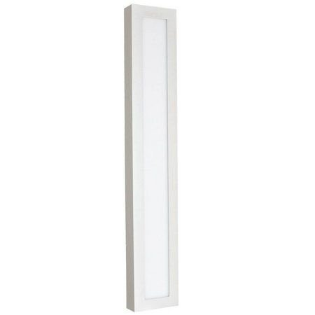 Luminária Plafon 10x60 18w LED Sobrepor Branco Neutro Borda Branca