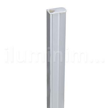 Lampada LED Tubular T5 6w - 30cm c/ Calha - Branco Quente   Inmetro