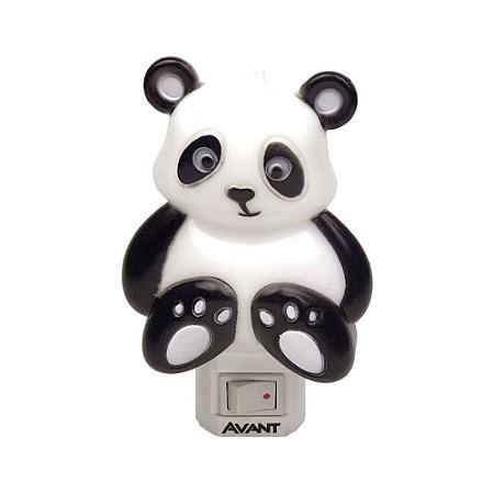 Luminária LED Abajur Panda 1W Luz Noturna