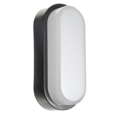 Luminária Arandela LED 12Wa Sobrepor Tartaruga Branco Frio Preto