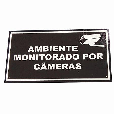 Kit 5 placas de advertência