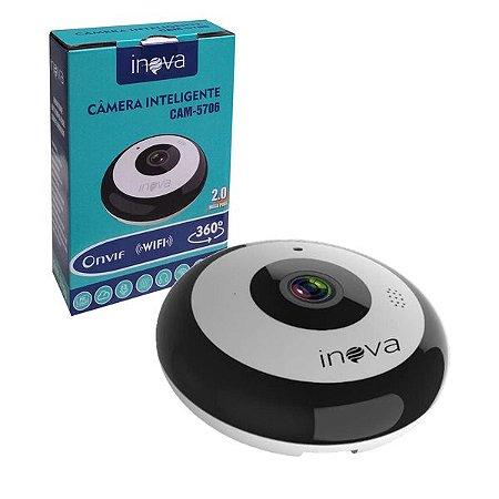 Câmera IP 360º Wifi 2mp Infra - Inova
