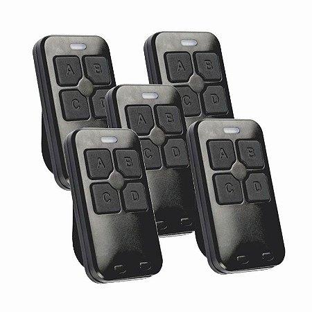 Kit 5pç Controle remoto 433hz Hcs Linear Dual Gate - Citrox