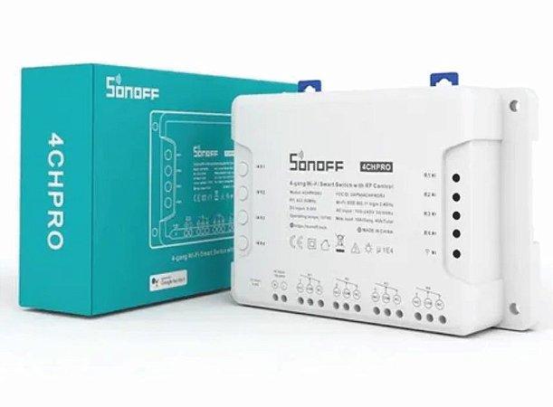 Relé wifi Interruptor 4 canais  Pro  Automação Residencial - Sonoff