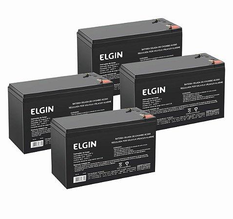 Kit 4 Bateria 12v - Elgin