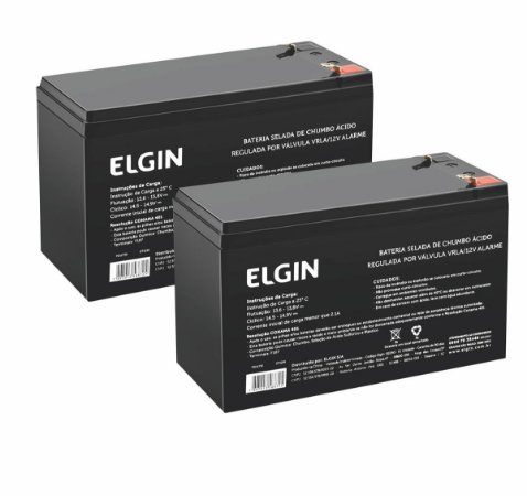 Kit 2 Bateria Elgin 12v