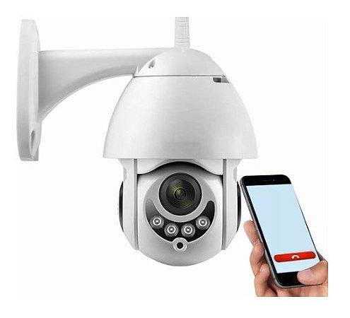 Câmera ip wifi gira 320 Ptz dome prova d'agua hd icsee nf - Inova