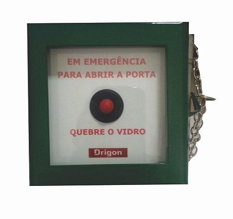 Caixa quebra vidro emergência abertura de porta - NF- Drigon