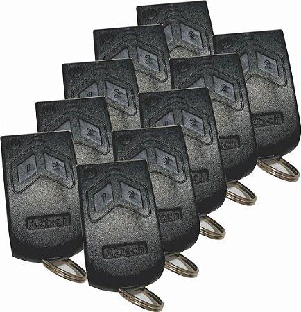 Controle Remoto Garagem 288mhz - Kit 10pçs - c/pilha - Aztech