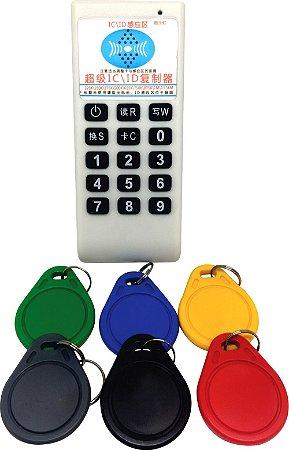 Clonador Duplicador de tags/cartão - c/6 tags - 13,5 mhz e 125mhz