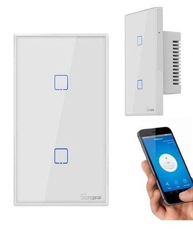 Interruptor Wifi 2 Botões Touch - Alexa /Google - Sonoff