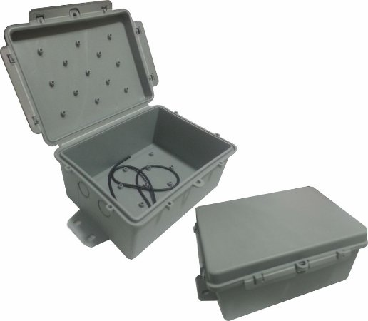 Kit 4 Caixas Herméticas Multitoc Slim - Cinza