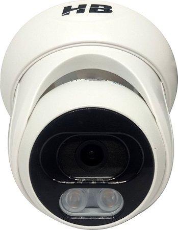 Câmera Dome 20m 1080p Infra Plást Int Color Dia/noite Hbtech